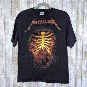 Metallica Double Sided Rib Cage Hanes Medium Shirt